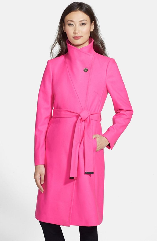 Neon Pink Coat | Down Coat
