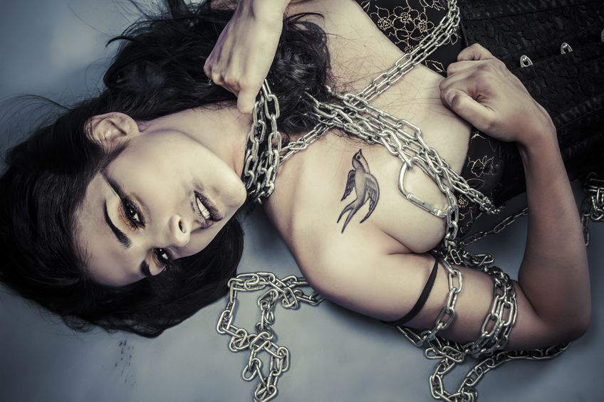 Woman in chains