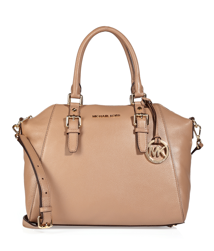 Michael Michael Kors Leather Bowling Bag