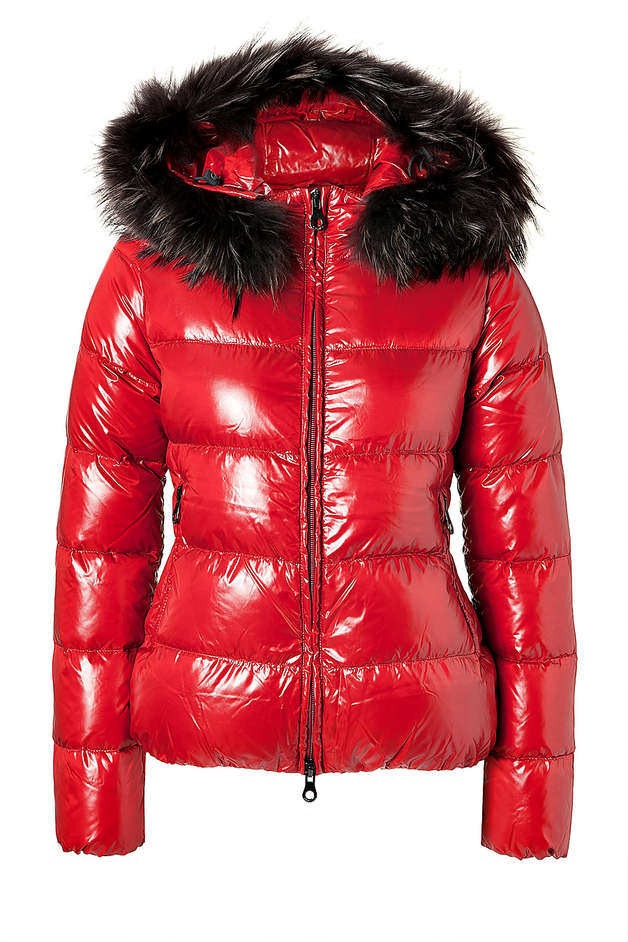 Duvetica Adhara Down Jacket with Fur-Trimmed Hood