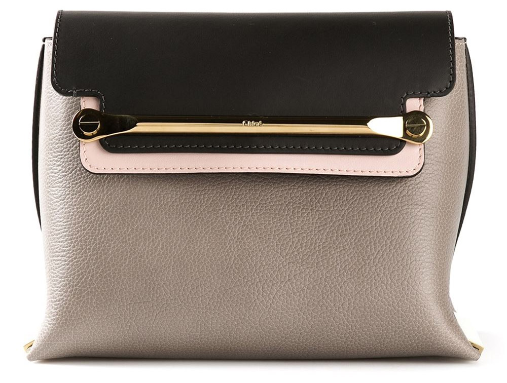 Motty grey multiolored calf leather Clare shoulder bag from Chloe