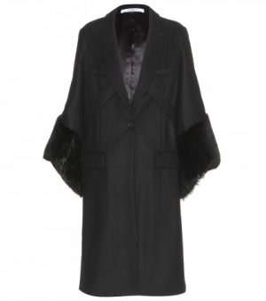 Givenchy Wool Coat With Fur Trim