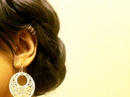 Real pic of Fresh trends Triple Steel Illusion Non Piercing Cartilage Earring or Lip Ring 3