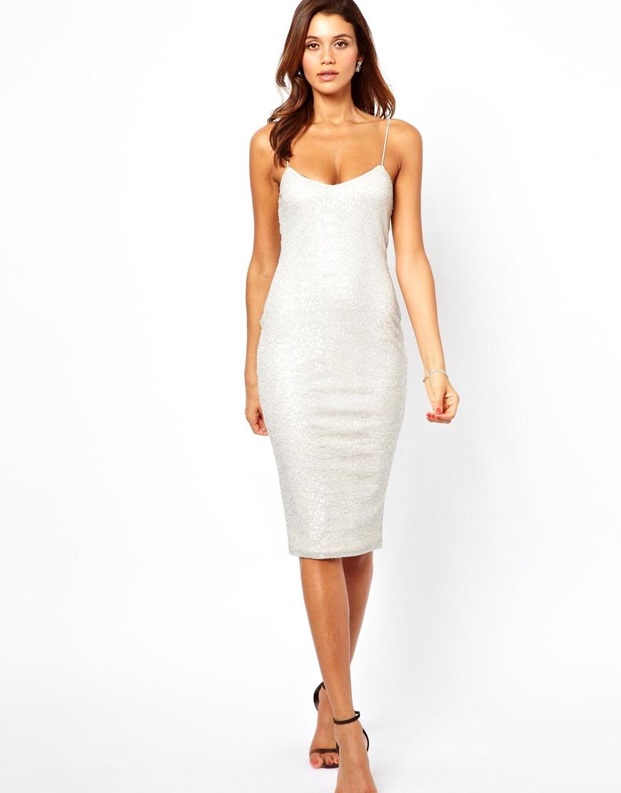 ASOS Midi Sequin Cami Dress
