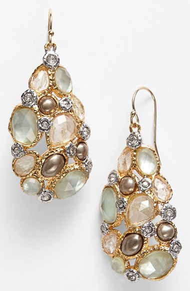 Alexis Bittar 'Elements - Kiwi' Cluster Drop Earrings Gold/ Multi