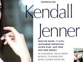 Kendall Jenner estee lauder screenshot estee lauder webpage