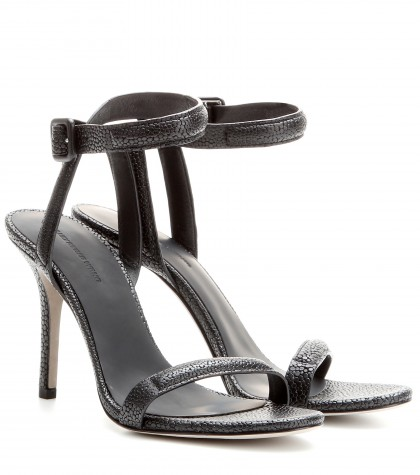 Alexander Wang Antonia Textured-leather Sandals