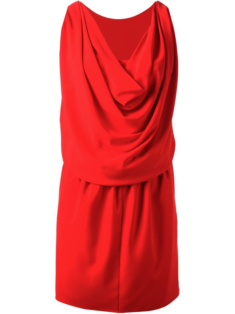 MOSCHINO CHEAP & CHIC draped sleeveless dress