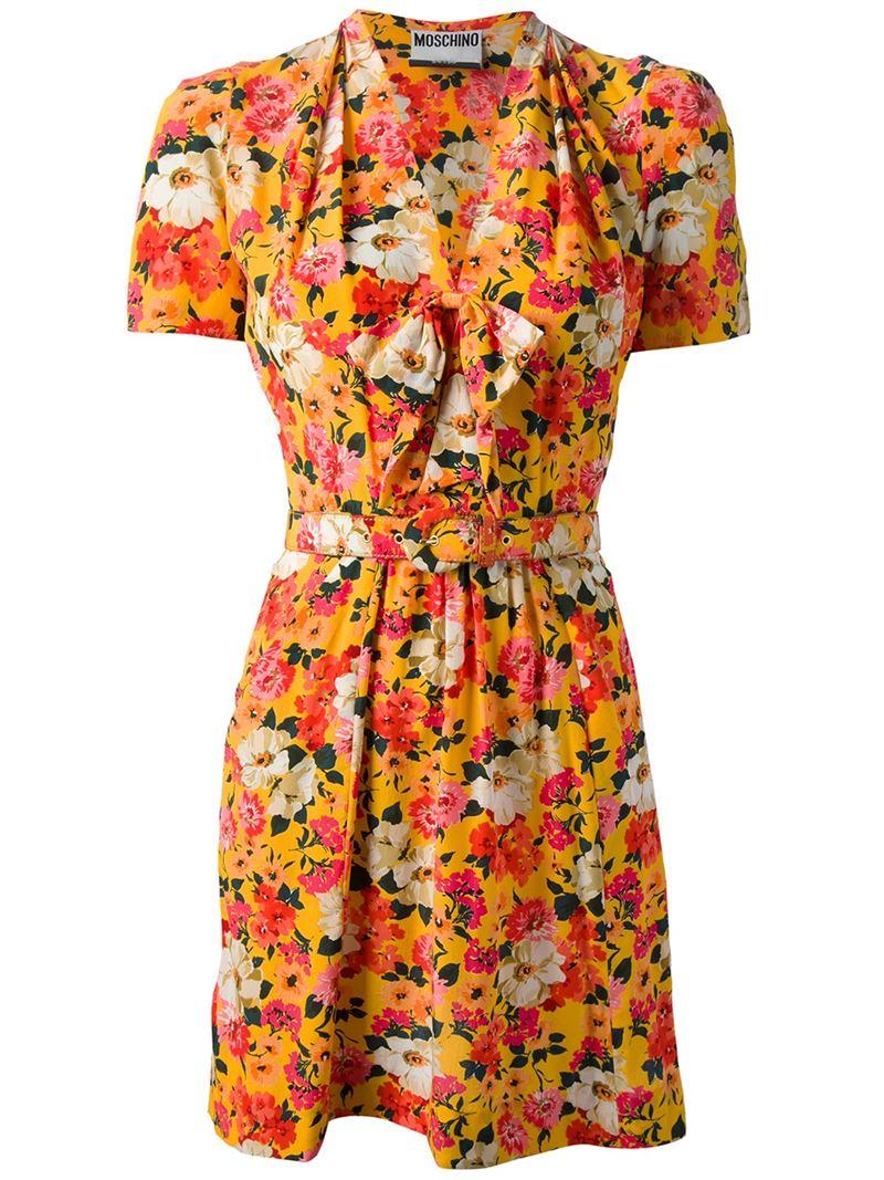 MOSCHINO VINTAGE floral print dress
