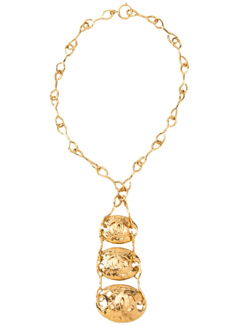 CHANEL VINTAGE triple layered necklace - Chanel vintage necklace