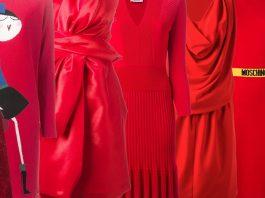 12 red moschino dresses