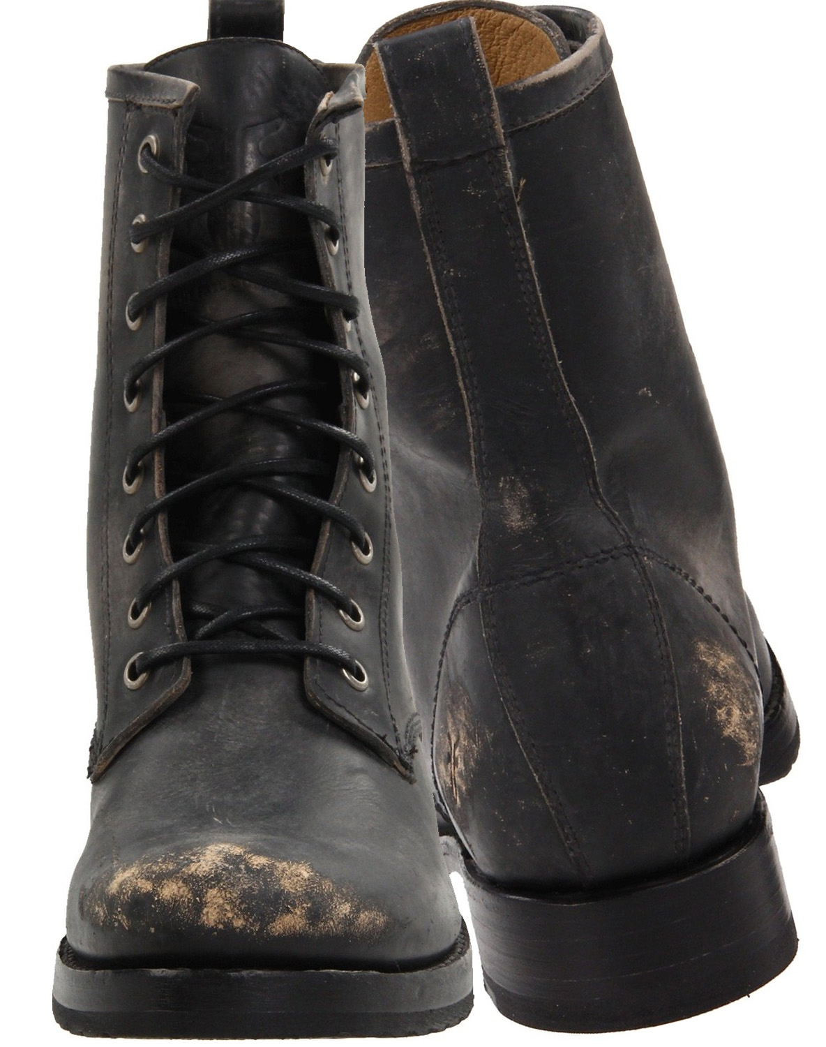 FRYE Womens Veronica Combat Boot black stone washed
