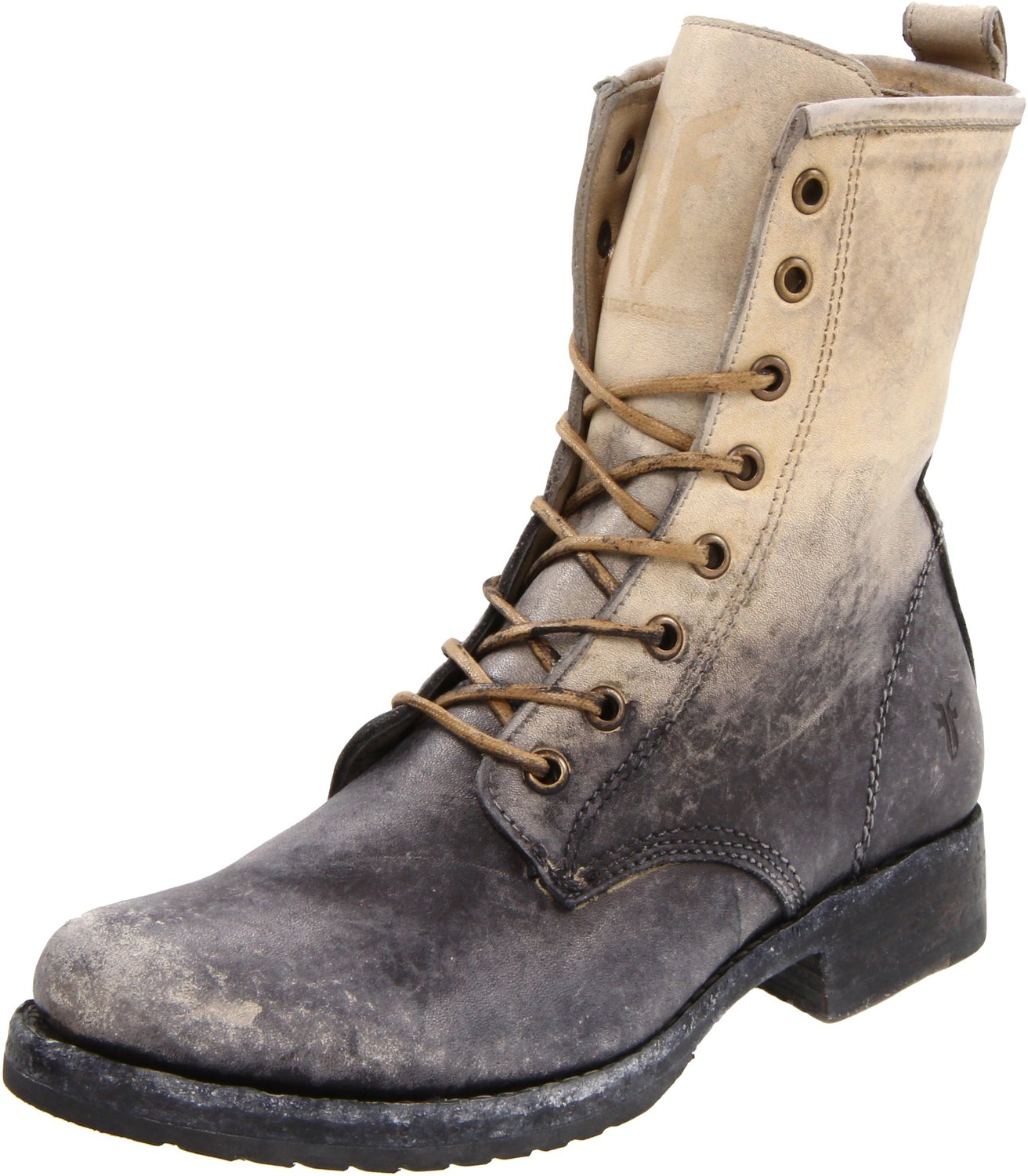 FRYE Womens Veronica Combat Boot stone stone washed
