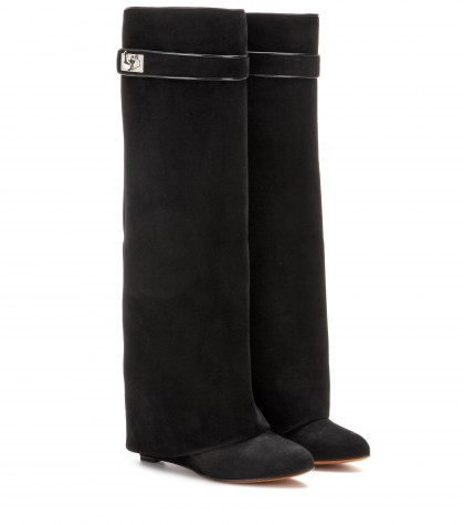 Givenchy Pant Suede Wedge Boots