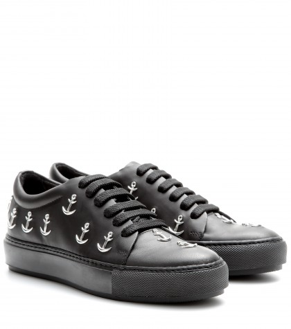 Acne Studios Adriana Anchor-studded Leather Sneakers