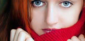 girl in a red scarf