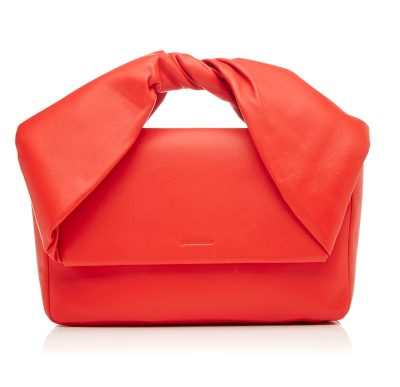 J.W. Anderson Twisted red clutch purse