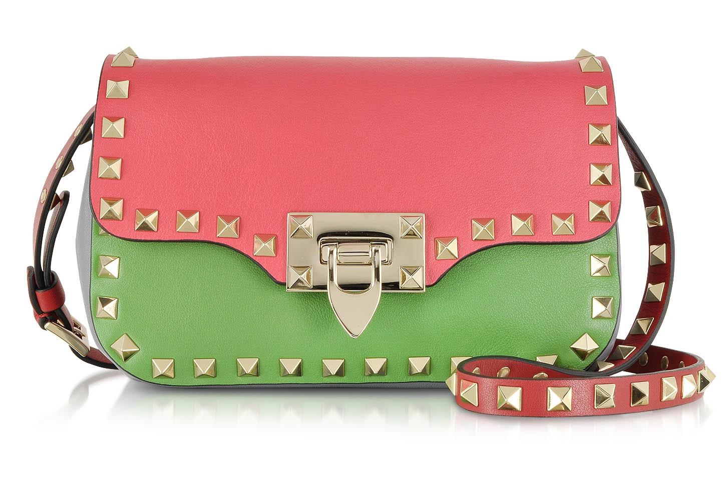 Valentino Rockstud Multicolor Leather Crossbody Bag