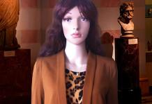 mannequin brown leopard print calvin klein dress brown hm blazer