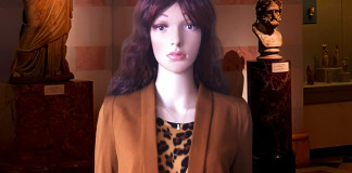 mannequin brown leopard print calvin klein dress brown hm blazer