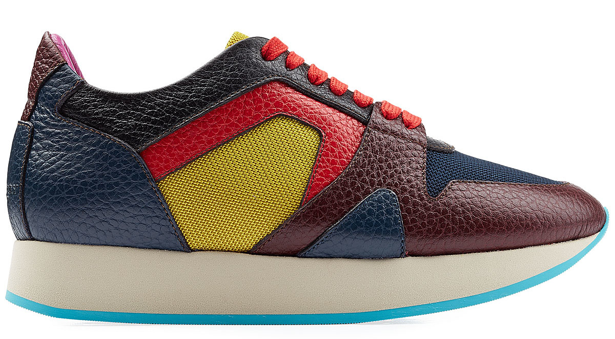 BURBERRY PRORSUM Colorblock Leather Sneakers