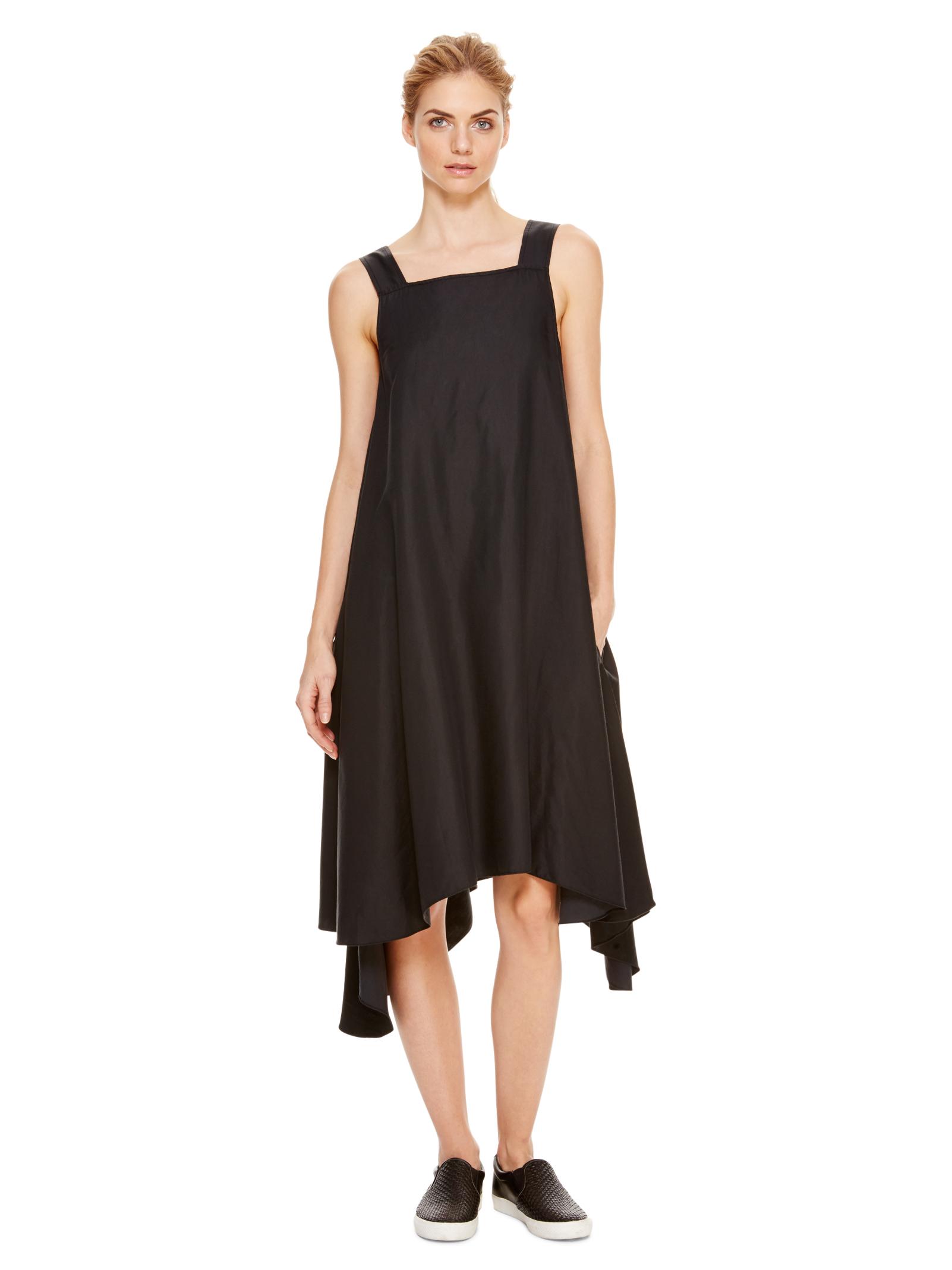 Black DKNYpure Sleeveless Trapeze Dress