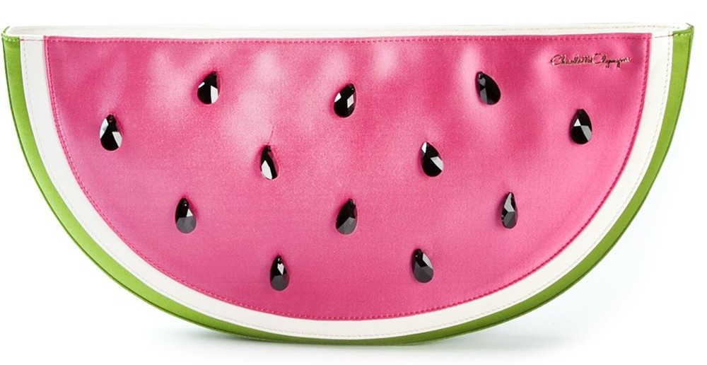 Charlotte Olympia 'I Carried A Watermelon' clutch