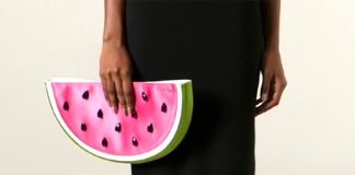 Charlotte Olympia I Carried A Watermelon clutch purse