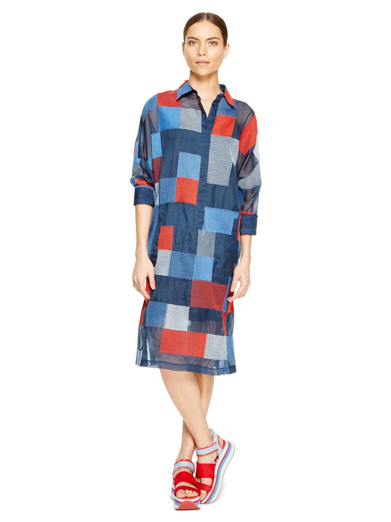DKNY organza shirt dress