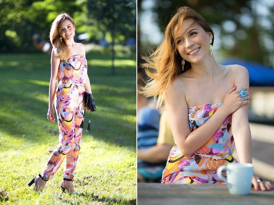 HM colorful strapless jumpsuit