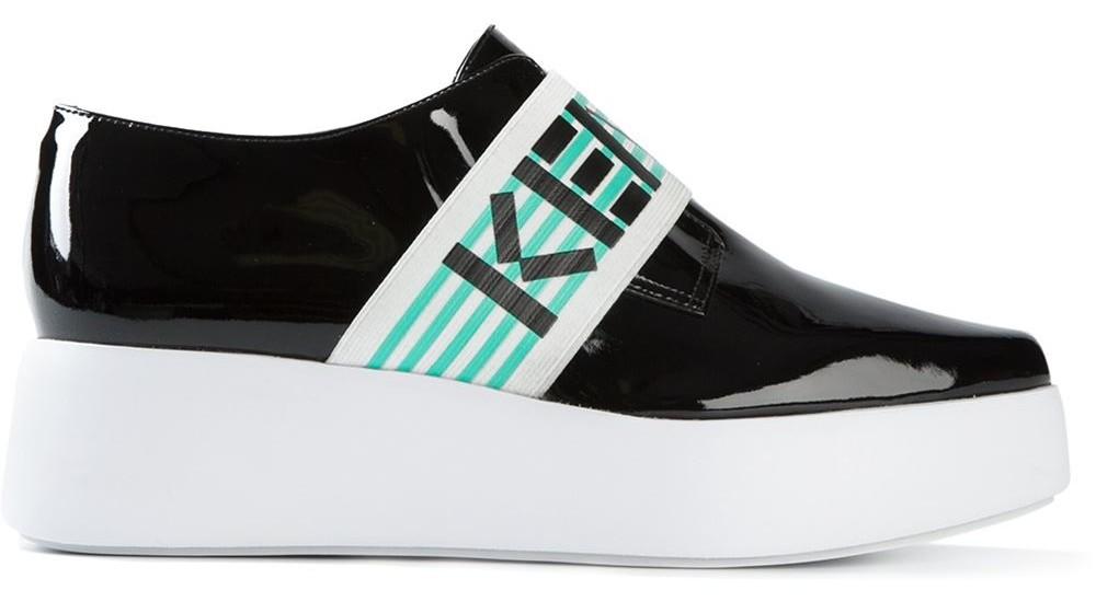 Kenzo slip-on platform shoes