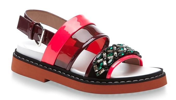 Marni Fussbett Embellished Sandals