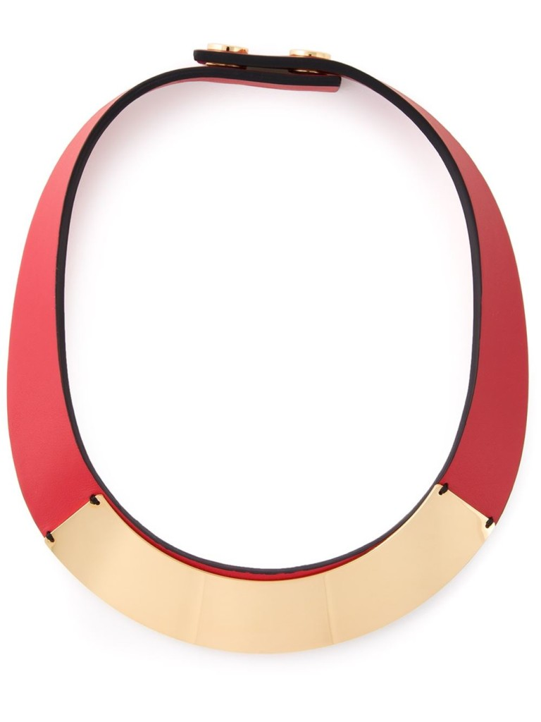 Marni gold detail necklace