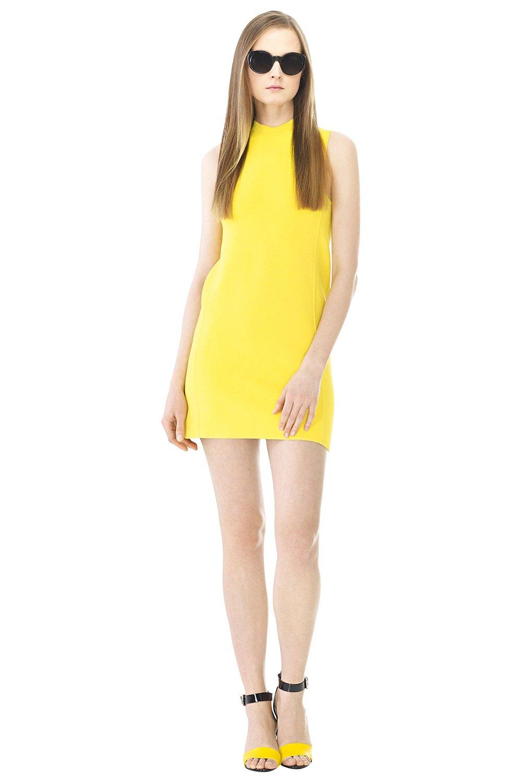 Ralph Lauren Sleeveless Mockneck Shift Knit Day Evening Dress