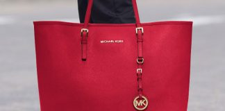 Red MICHAEL Michael Kors Medium Travel Tote