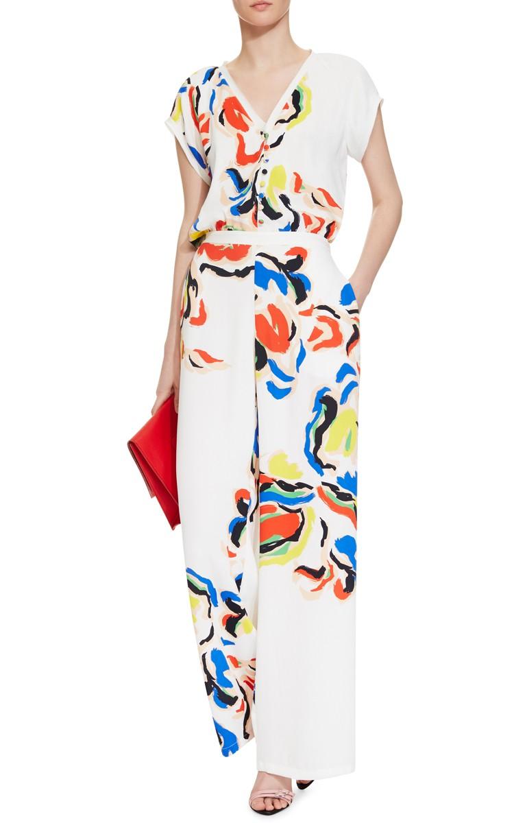 Saloni Dahlia Printed Jumpsuit