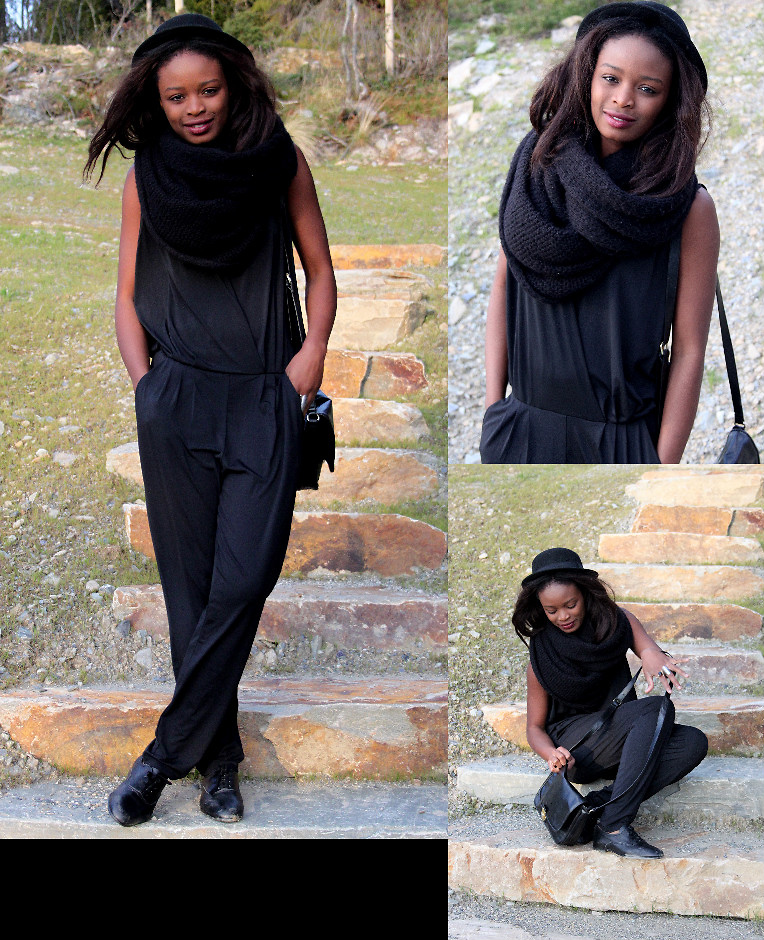 Sarah B blogger from Asker Norway wearing black jumpsuit