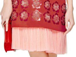 DELPOZO Embellished Washed Twill Dress