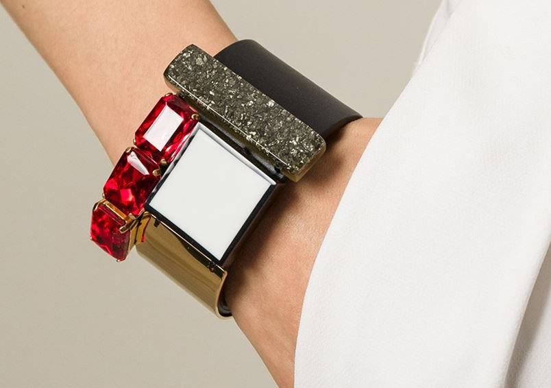 Marni contrasting panel cuff bracelet