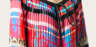 Multicoloured silk printed pleated blouse Roberto Cavalli