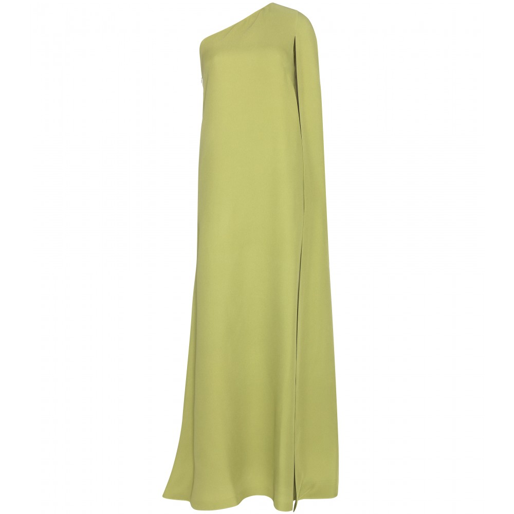 Valentino sage green Floor-length silk dress