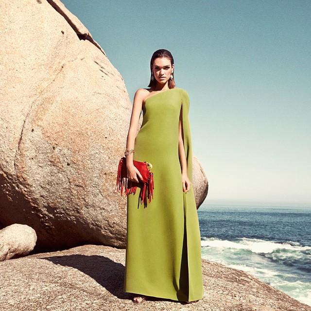Valentino sage green Valentino Floor-length silk dress