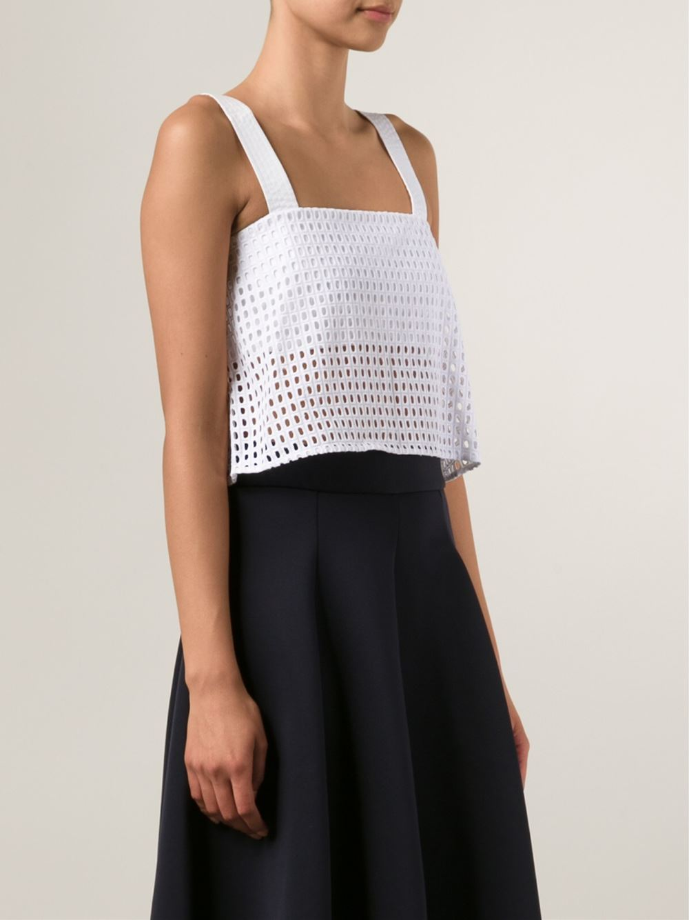 3.1 Phillip Lim cropped perforated tank top
