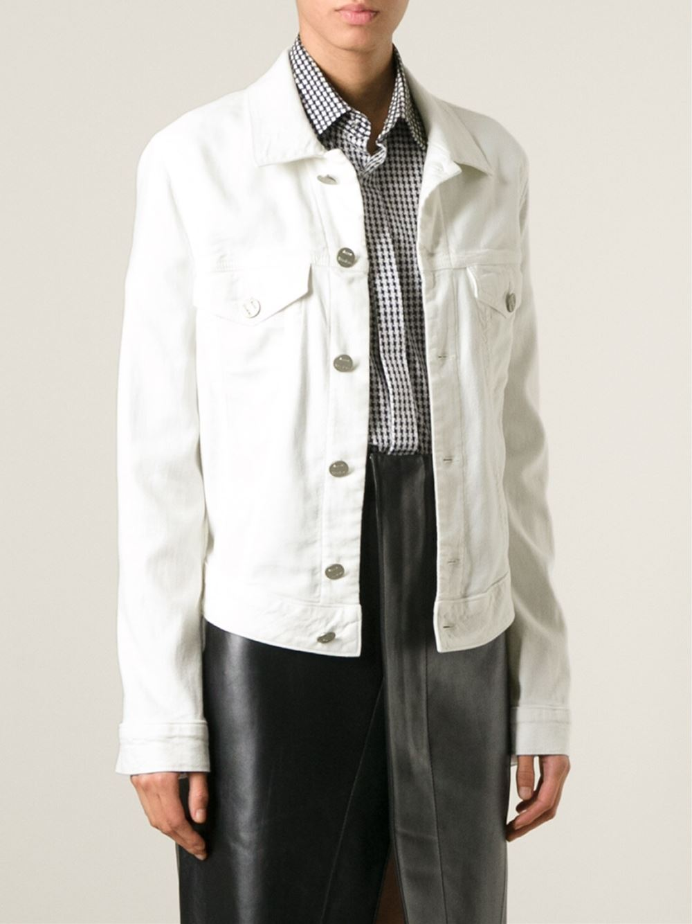 Acne Studios white Edith denim jacket