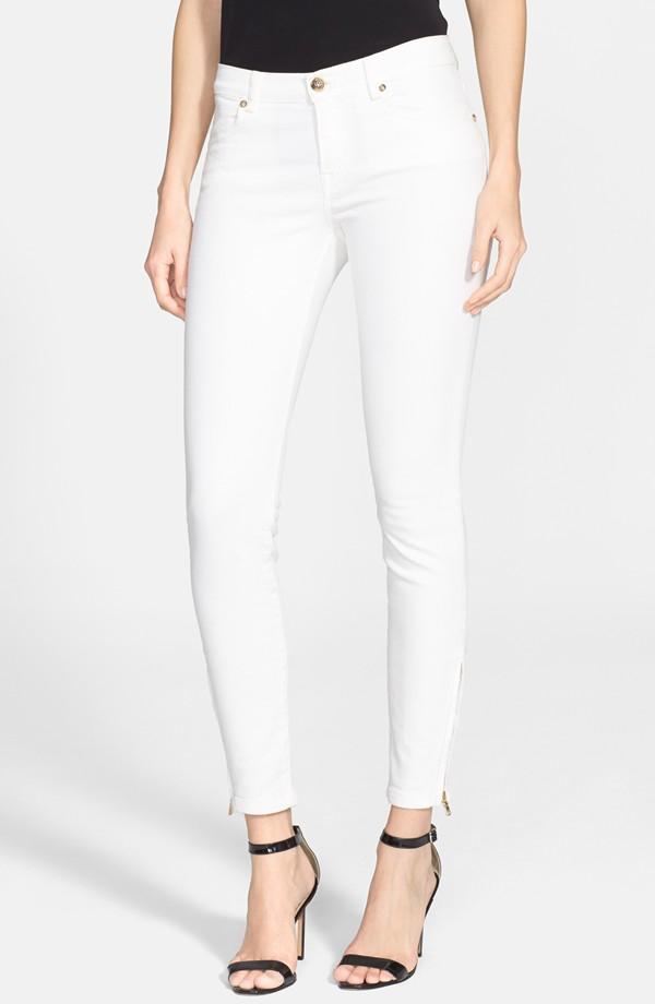 Emilio Pucci white stretch denim pants