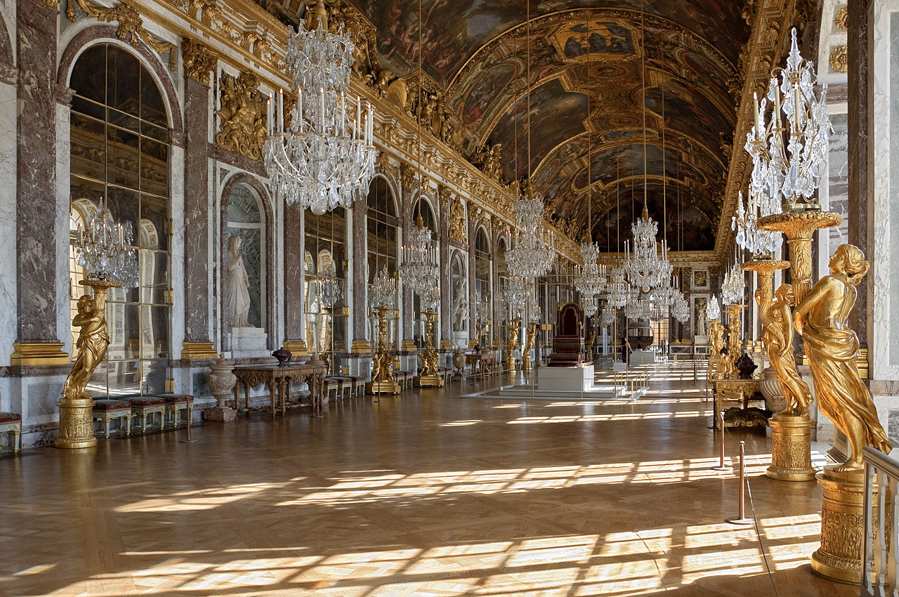 Galerie des Glaces Hall of Mirror in the Palace of Versaille Versailles France