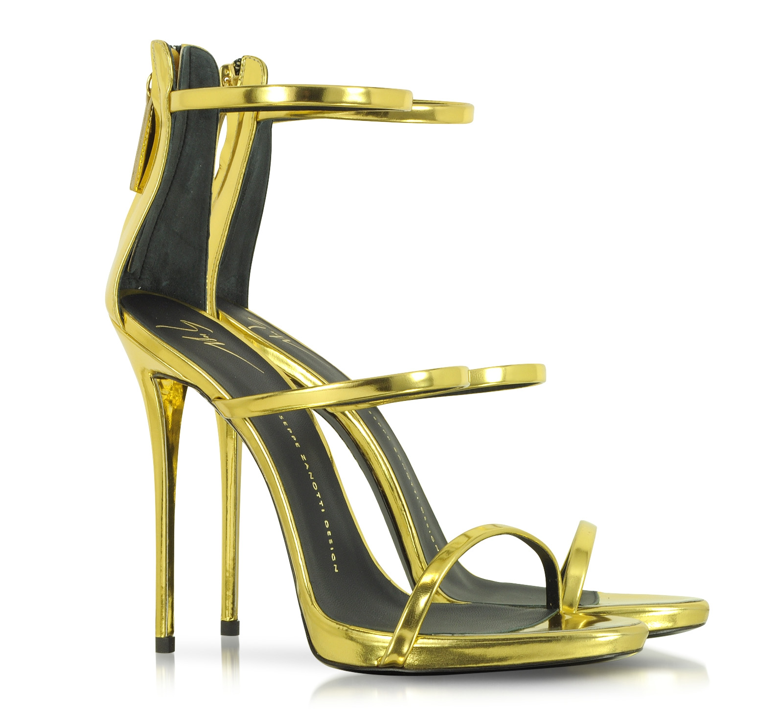 Giuseppe zanotti gold metallic sandals garden house for Zanotti arredamenti
