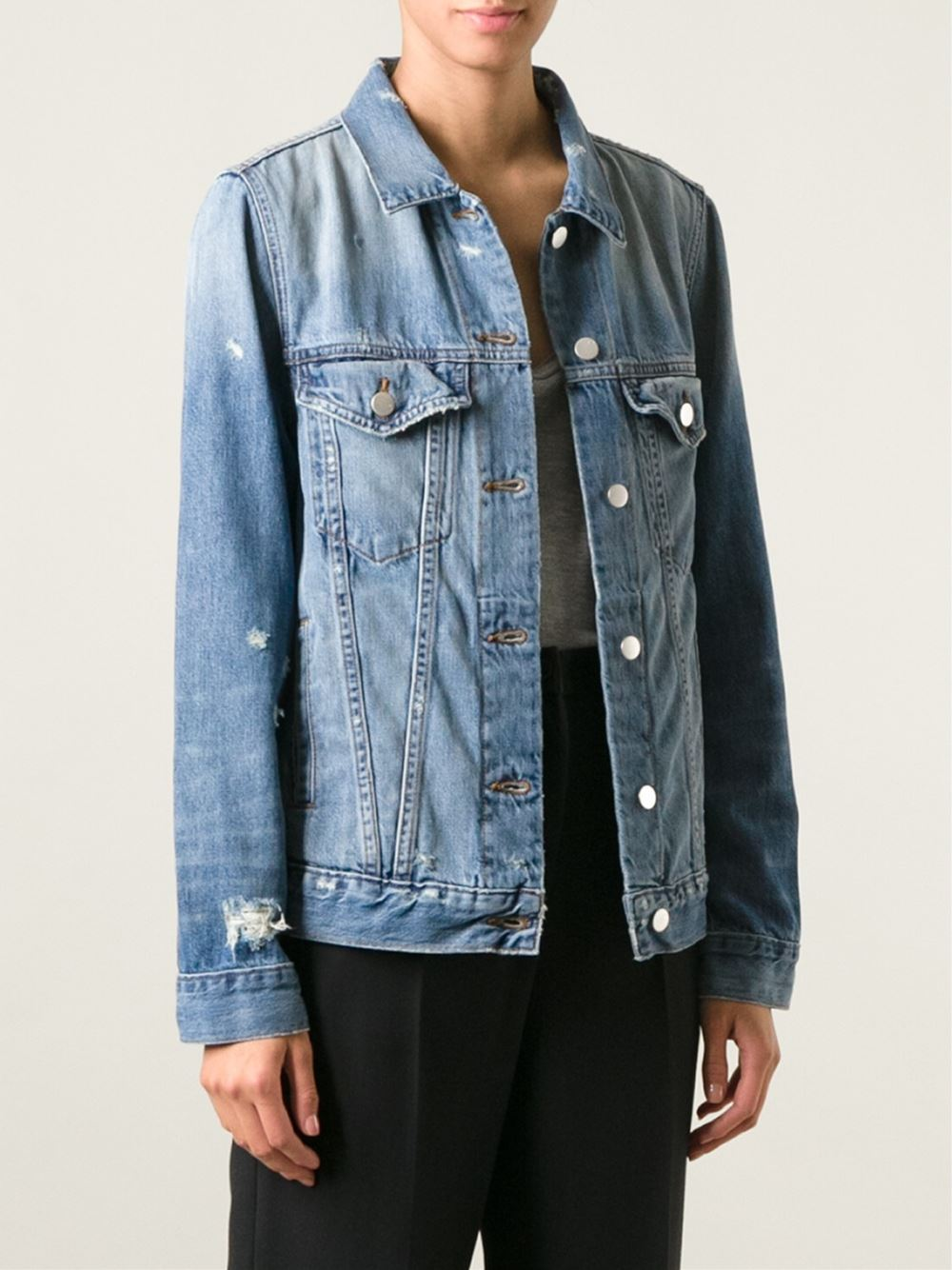 J Brand distressed denim jacket