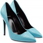 Pierre Hardy turquoise blue leather pumps