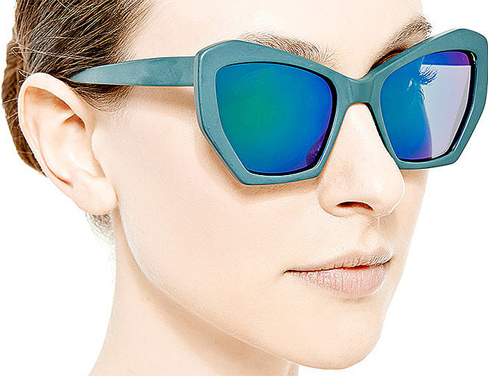 Prism Brasilia Mirrored-Lens Acetate Sunglasses